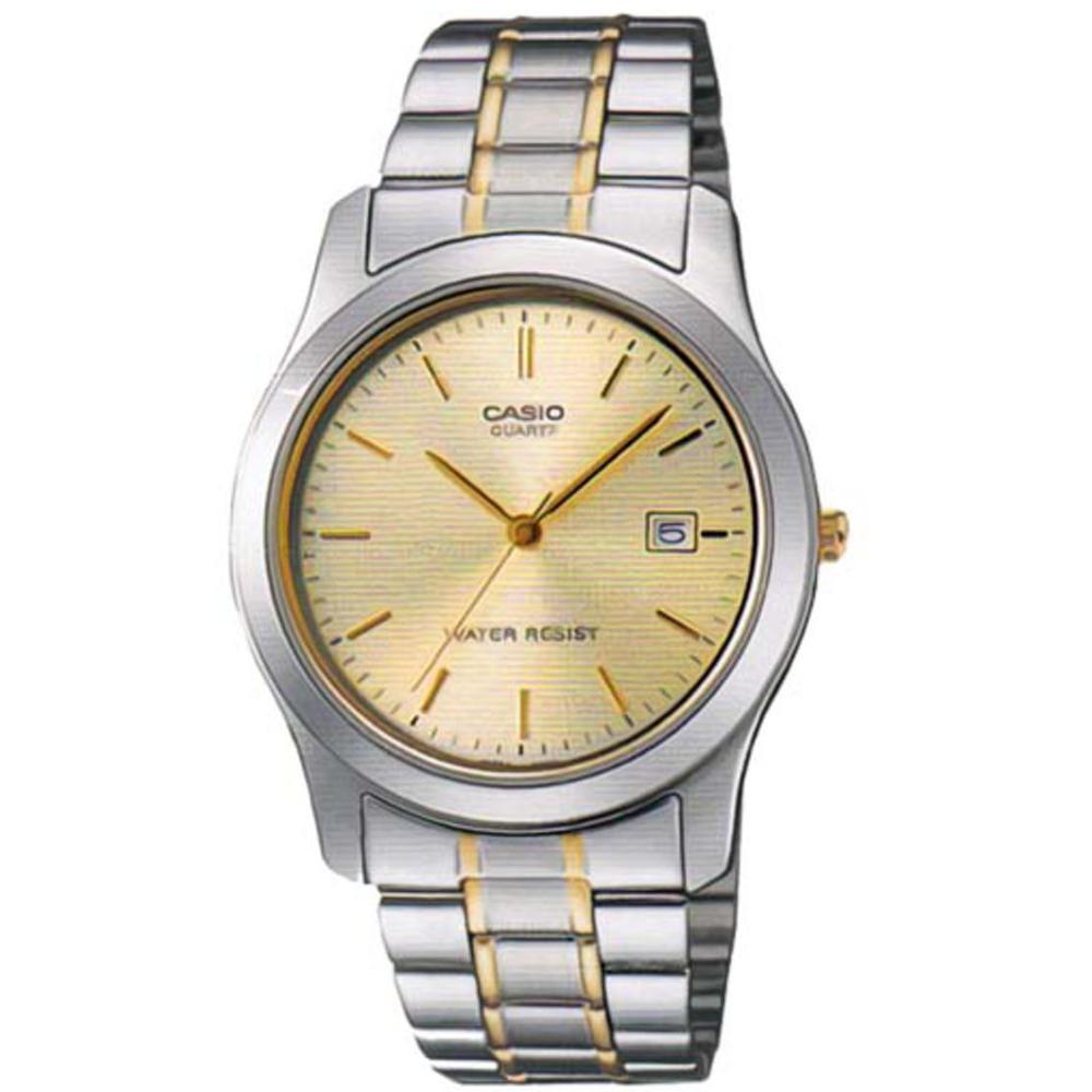 CASIO 世界富豪時尚指針紳士錶(MTP-1141G-9A)-黃面