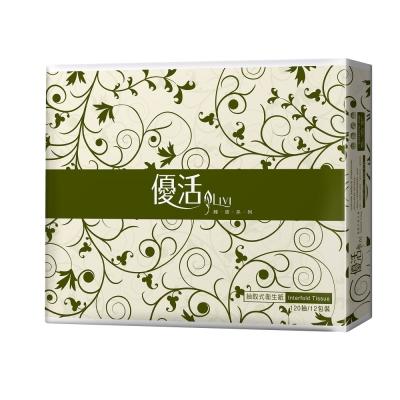 Livi優活抽取式衛生紙 120抽x72包 /箱