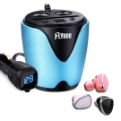 FLYone HC-30 電壓 2.1A快充 多功車充杯+S650時尚迷你藍芽耳機