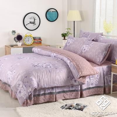 COOZICASA柔情歲月 雙人吸濕排汗兩用被六件式床罩組