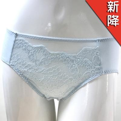 華歌爾 銀河花園M-LL 中腰三角褲 (輕透藍)