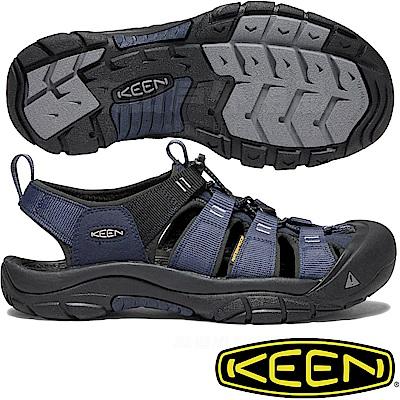 KEEN 1018940深藍/黑 Newport Hydro男戶外護趾涼鞋