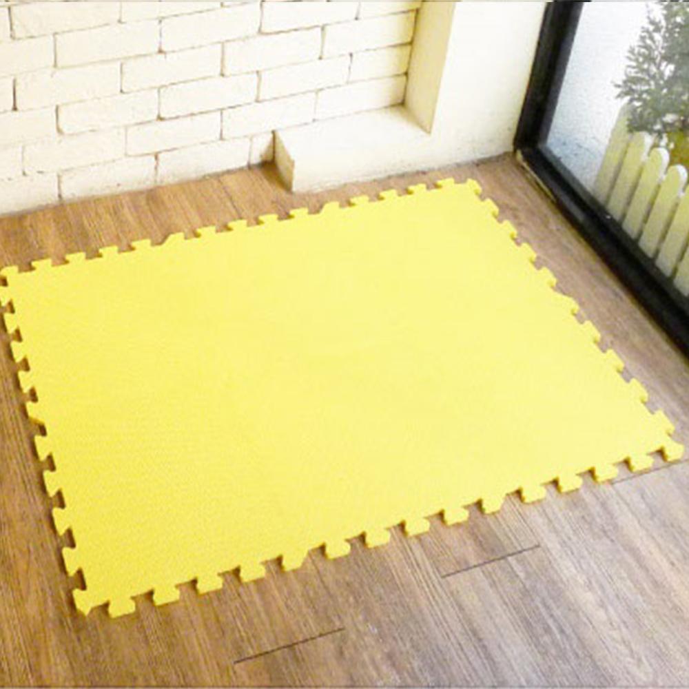【新生活家】抗菌地墊32x32x1cm 柔和黃6入