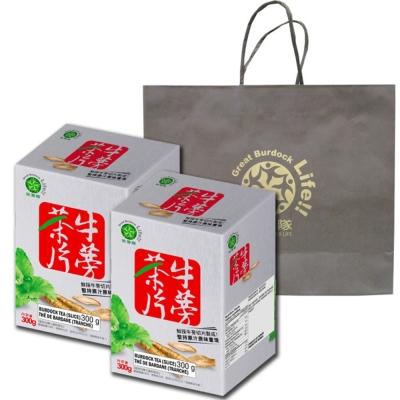 笑蒡隊 牛蒡茶片2入提袋組(300g/盒)