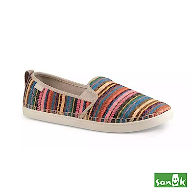 SANUK 繽紛條紋休閒鞋-女款(粉色)