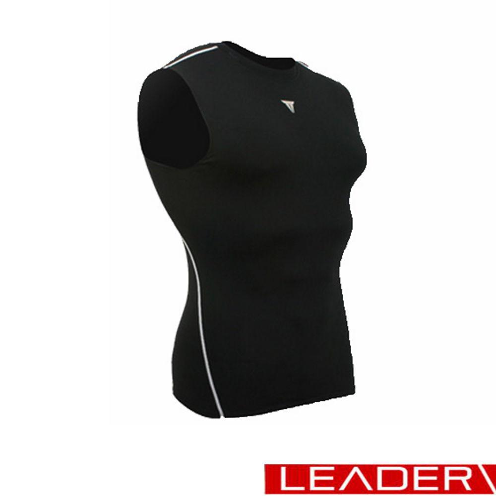 (快速到貨) LEADER Muscle Support專業運動背心 黑色