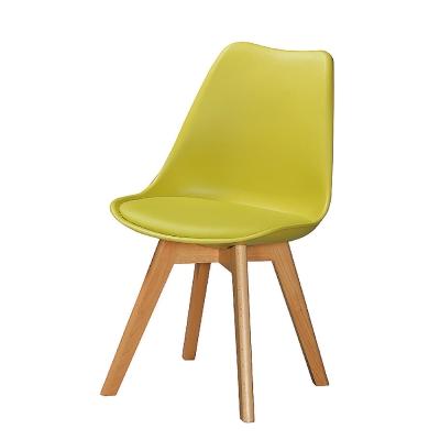 AS-輕巧休閒皮座墊椅-森林綠-46x43x83cm