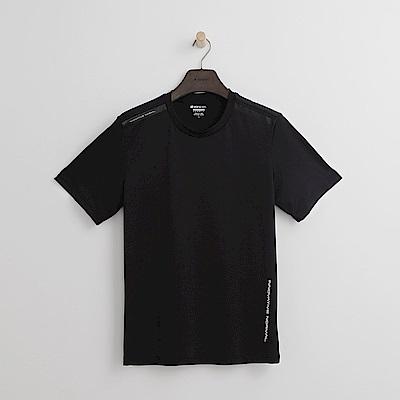 Hang Ten - 男裝 - Thermo Contro肩印條T恤-黑色