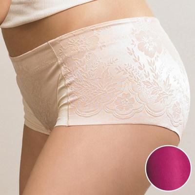 華歌爾 BABY HIP 64-76 低腰修飾褲(紫棠紅)