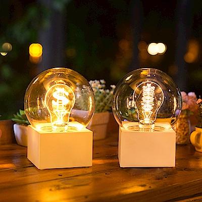 法國三寶貝  白色遙控充電LED燈泡造型夜燈 兩型 錢幣鎢絲