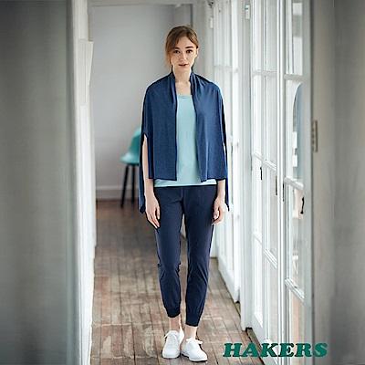 【HAKERS 哈克士】女-涼感抗菌披肩-丈青