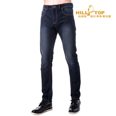 【hilltop山頂鳥】男款保暖牛仔褲H31MK0深藍