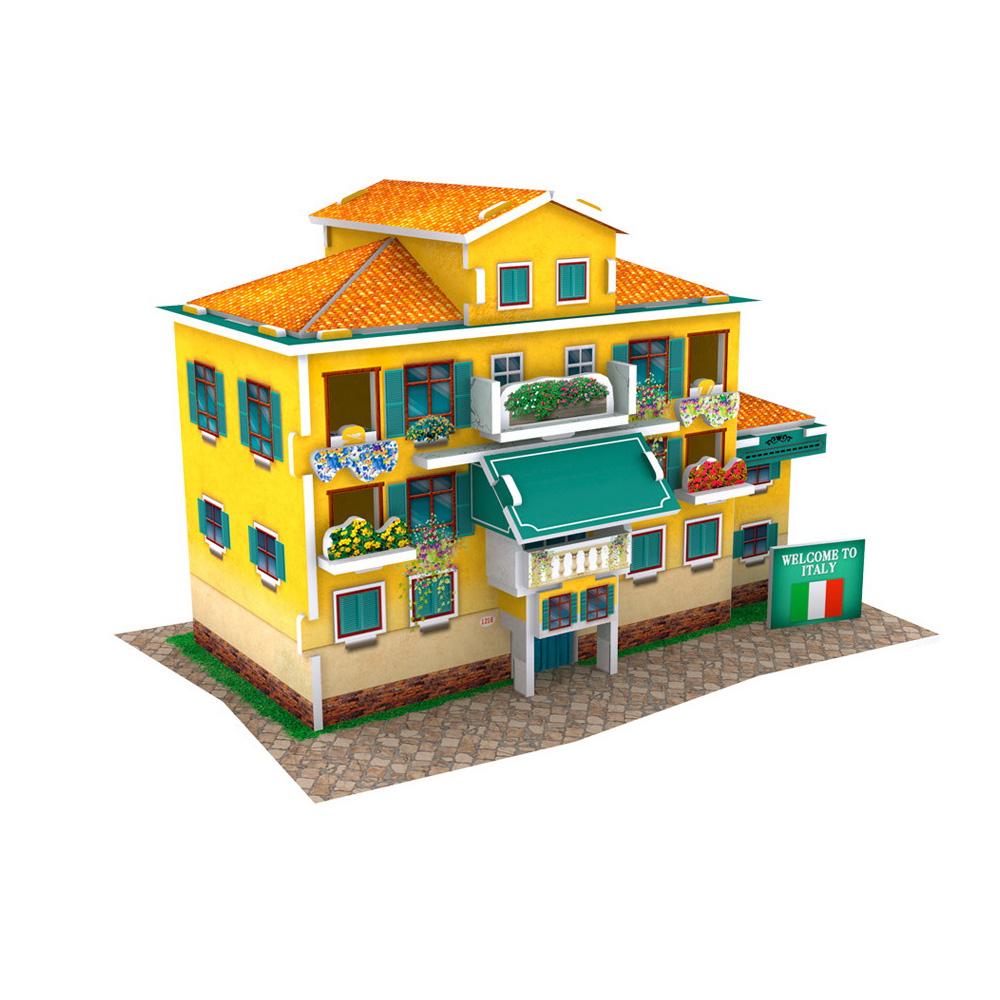 世界之窗 3D立體拼圖 《義大利》意國民宿 3D World Style