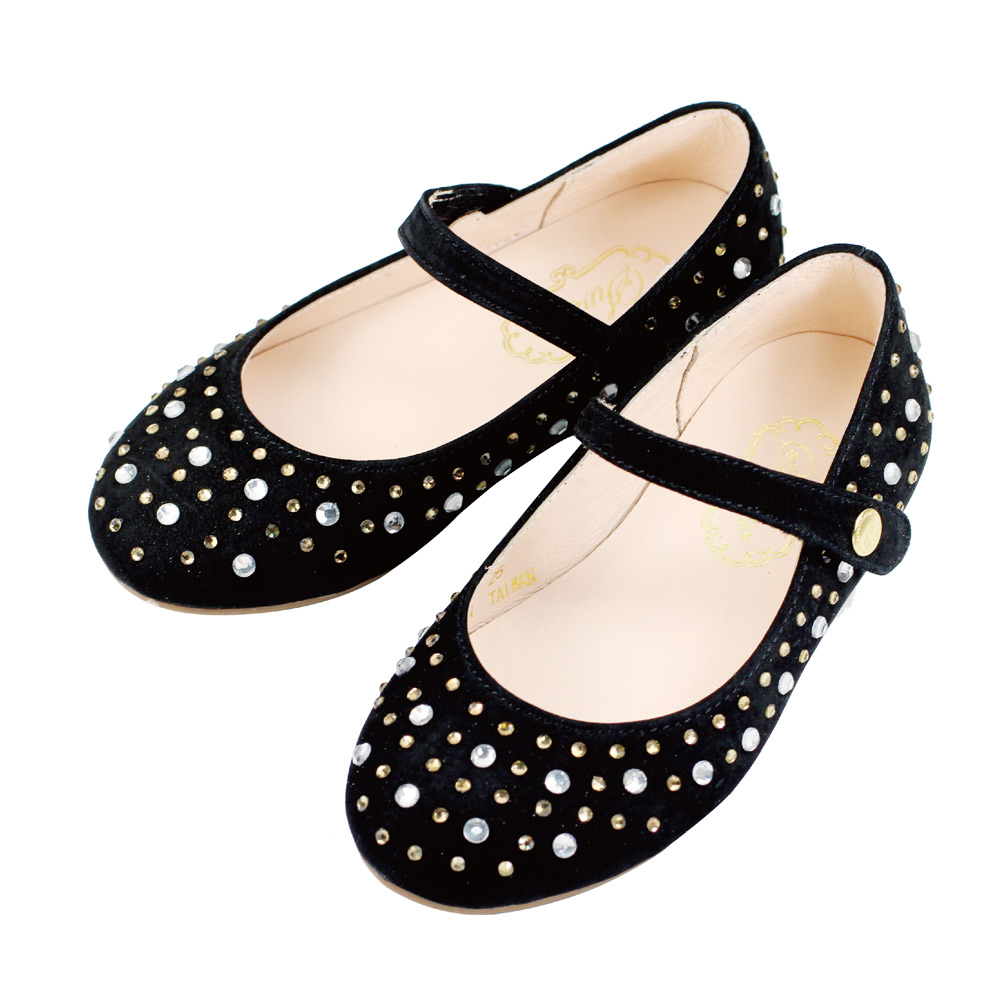 Swan天鵝童鞋-華麗水鑽公主鞋 3725-黑