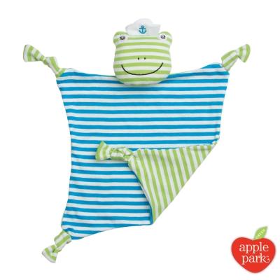 美國 Apple Park 農場好朋友系列 有機棉安撫巾 - 青蛙跳跳