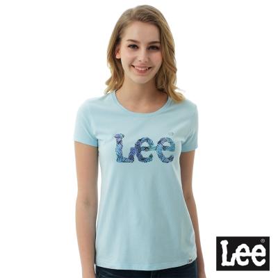Lee 棕梠樹短袖圓領TEE - 女款 - 淺藍色