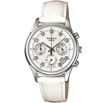 SHEEN 唯美的喜悅施華洛士奇計計時腕錶(SHE-5023L-7A)-白面/32mm