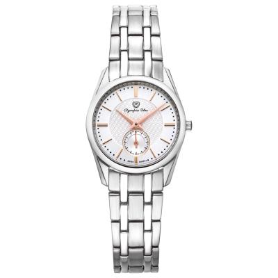 Olympia Star 奧林比亞之星經典都會系列小秒針時尚腕錶-白/26mm