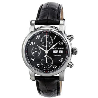 MONTBLANC 萬寶龍 STAR(106467) 三針日曆星期計時腕錶-黑面/39mm