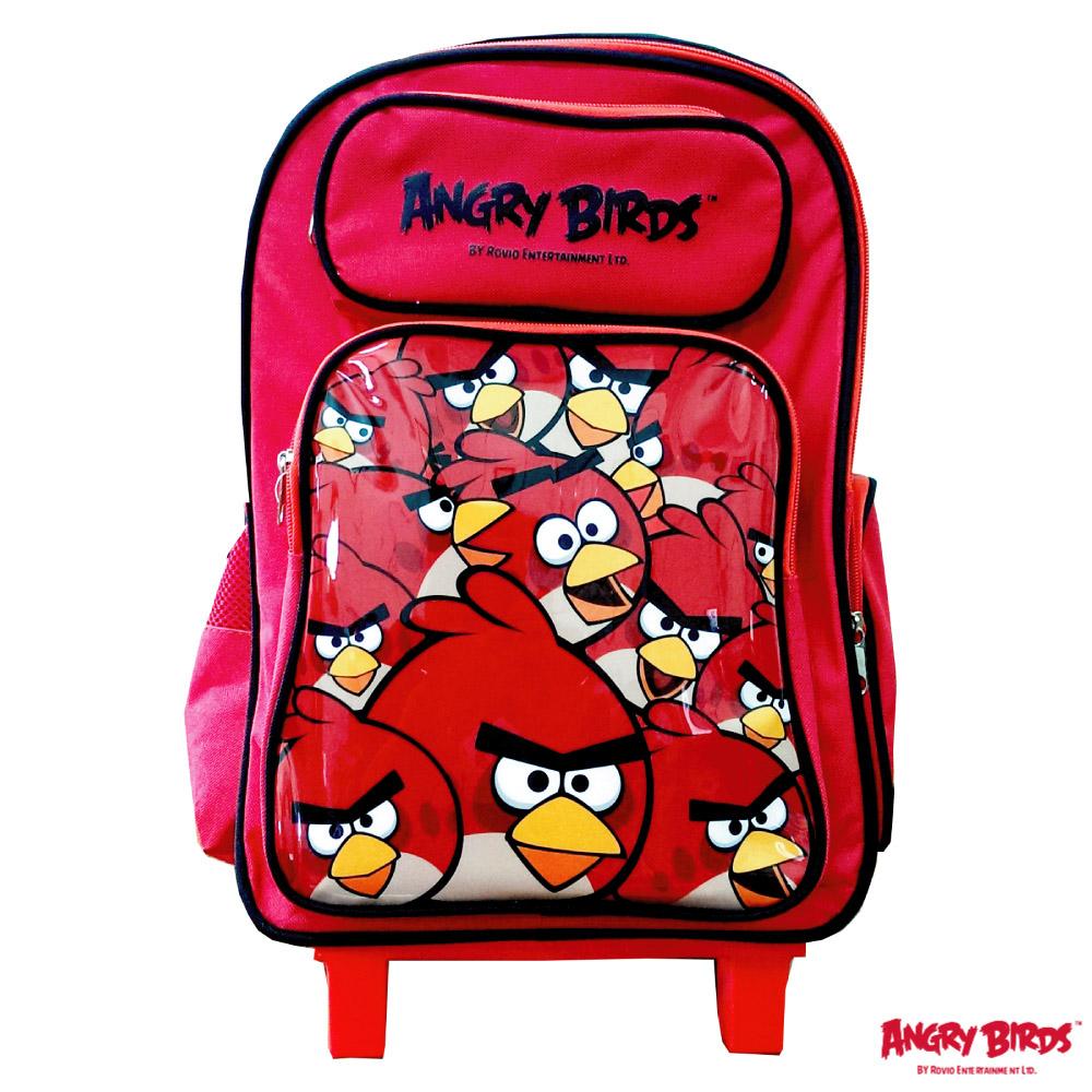 Angry Birds 憤怒鳥三段式拉桿書背包(紅_AB4725)