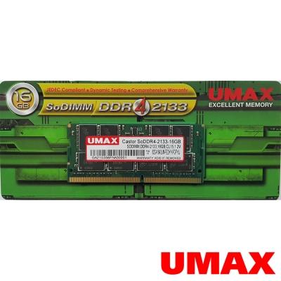 UMAX DDR4-2133 16GB  筆記型記憶體