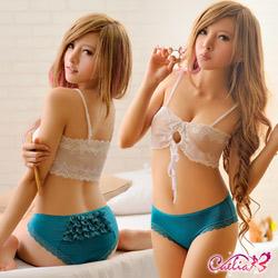 內褲 層層蕾絲內褲(碧綠) Caelia