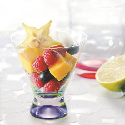 DANSK 幻彩雞尾酒杯(紫色×亮綠色)
