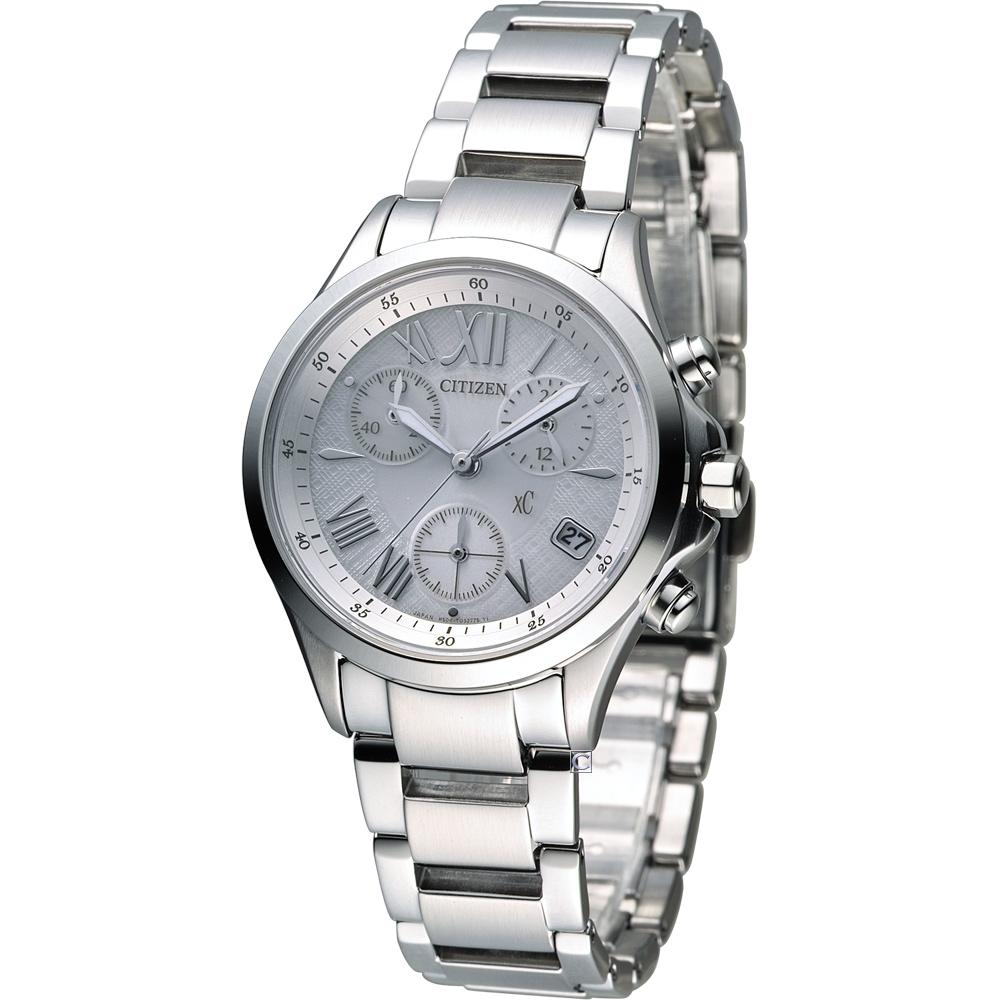 CITIZEN xC 自信魅力光動能計時錶(FB1400-60A)-銀/32mm @ Y!購物
