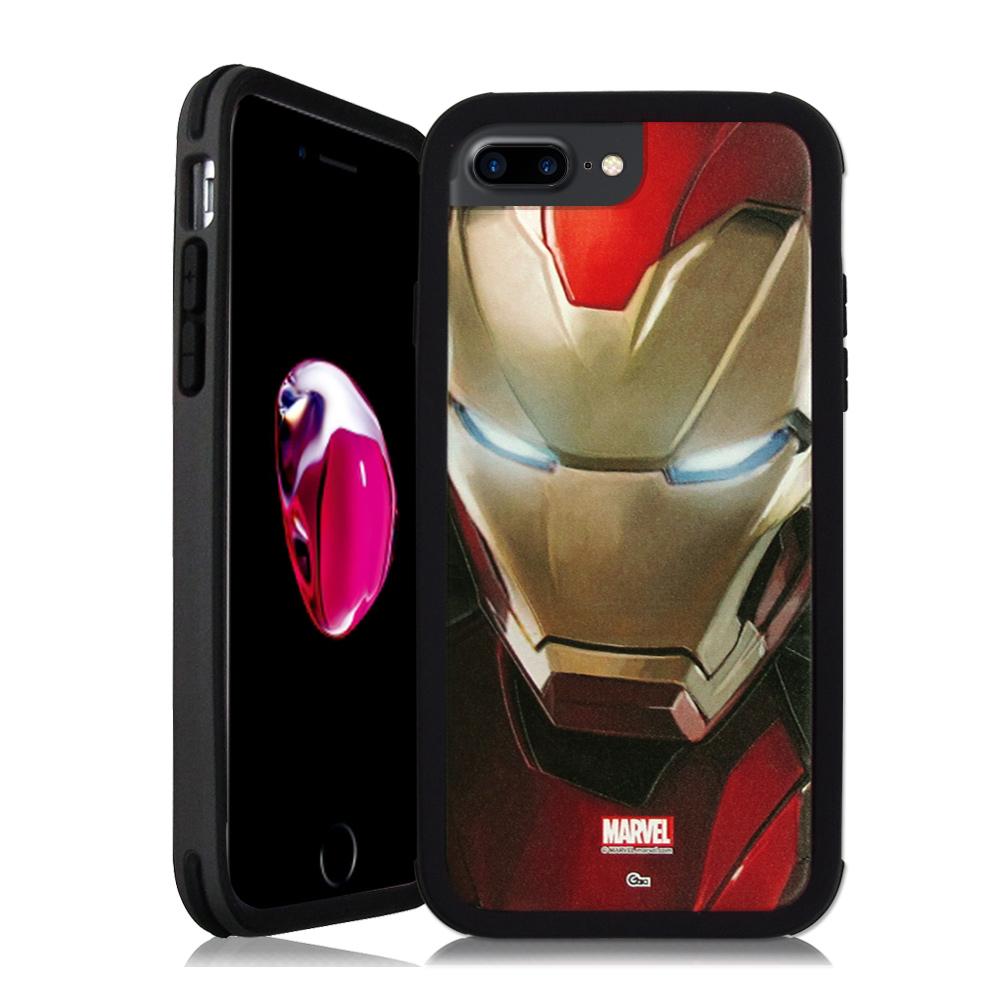漫威&SOLiDE iPhone 7 Plus 5.5吋 軍規防摔手機殼(鋼鐵人)