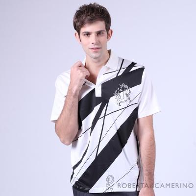 ROBERTA諾貝達 光滑柔軟 純PIMA棉休閒短袖POLO棉衫 白色
