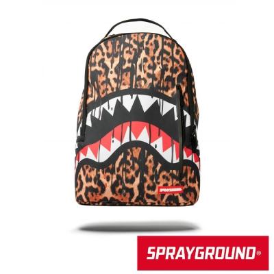 SPRAYGROUND DLX 系列 Leopard Drips 豹紋鯊魚潮流筆電後背包