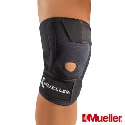 MUELLER慕樂 輕薄舒適 可調式彈簧膝關節護具 黑色(MUA57637)