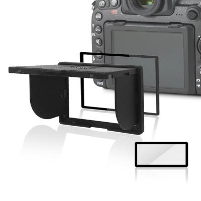 LARMOR V金屬邊框防爆鋼化玻璃相機保護貼-NIKON D850專用