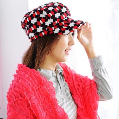 Aimee Toff 魔幻錯視普普風造型時尚帽(紅)