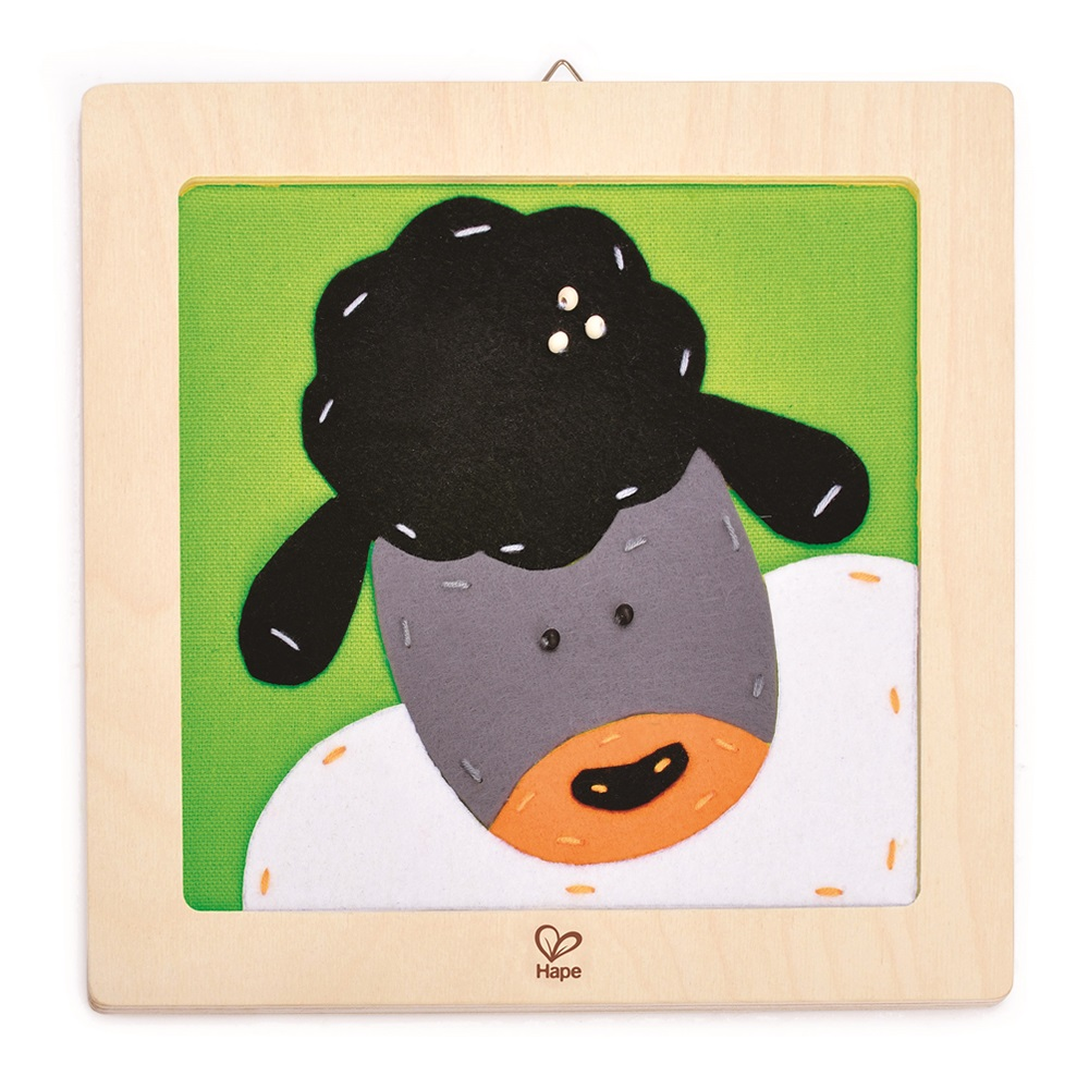 德國Hape愛傑卡 木製工藝系列-綿羊刺繡