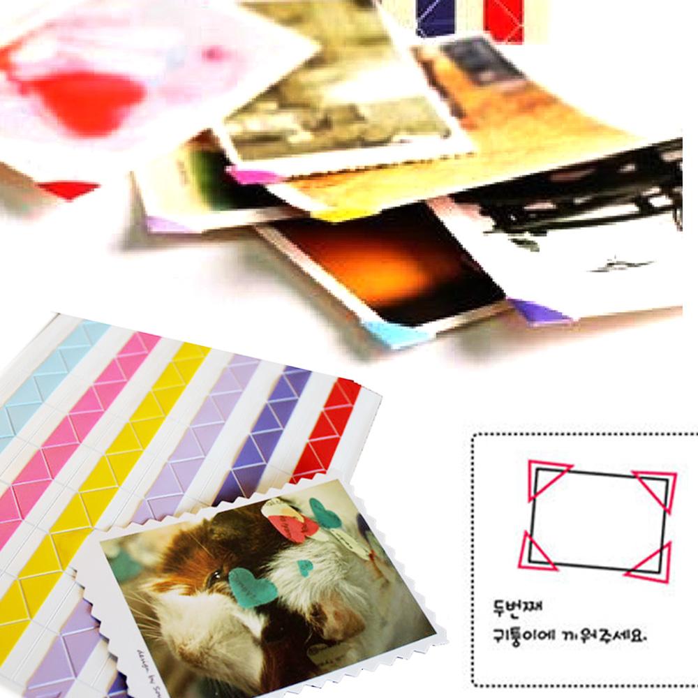 Kiret DIY相片角貼 拍立得照片護角固定貼408枚入-透明