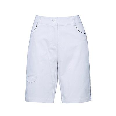 FILA 女款棉質平織短褲-白 5SHS-1436-WT