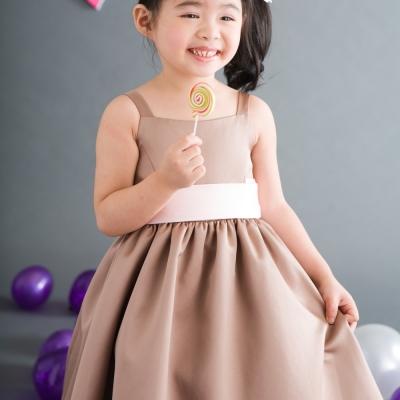【Lovin` Sweetii】喜洋洋小公主童洋裝~香檳金色限量款