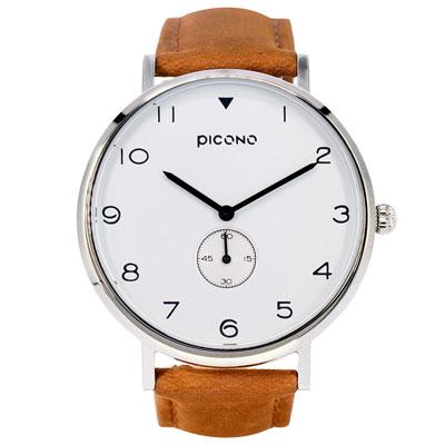 PICONO SPY S系列 輕薄真皮錶帶手錶(YS-7202)