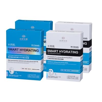 台塑生醫Dr's Formula-丰潤肌保濕面膜4入組(玻尿酸*2盒+九胜肽*2盒) @ Y!購物