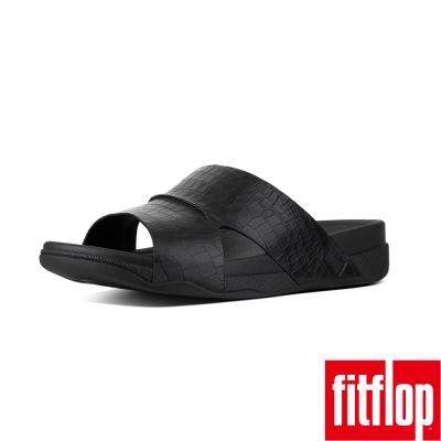 FitFlop TM-BANDO MEN'S CROC EFFECT-黑