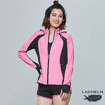 【LACHELN】COOLMAX女彈性拼接防曬外套(L81W504)