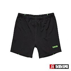 SASAKI 高彈力機能性田徑緊身短褲-男-黑/艷綠