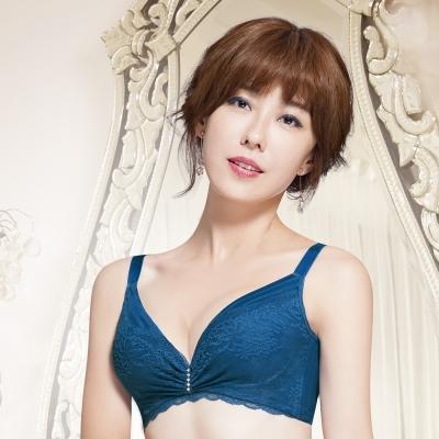 推Audrey-S-Bra 大罩杯B-E罩內衣(明艷藍)
