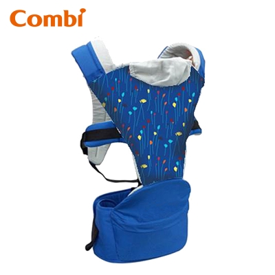 Combi Hipseat 折疊式坐墊背巾(藍彩帶)
