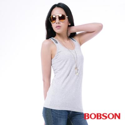 BOBSON  女款手縫亮片背心 -淺灰