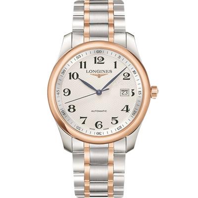 LONGINES 浪琴 Master 巨擘系列機械腕錶-銀x雙色版/40mm