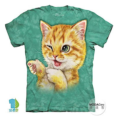摩達客 美國The Mountain 抓到貓咪 喵嗚 短袖女版T恤