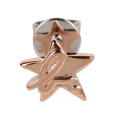 agnes b.星星 b logo穿式耳環-玫瑰金(單隻)