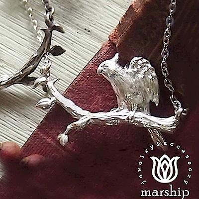 Marship 日本銀飾品牌 鸚鵡項鍊 舒展翅膀款 925純銀 亮銀款